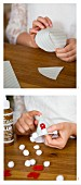 Instructions for making an Advent calender from paper cones