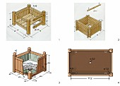 Instructions for making a wooden planter