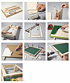 Instructions for building a fold-away desk