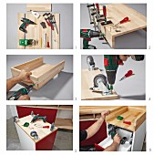 Instructions for revamping a set of drawers