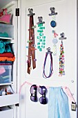 Storage idea for wardrobe door