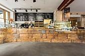 Ein Coffee-Shop im Vintage-Stil