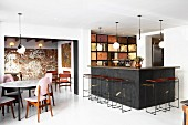 Retro-style bar and dining table