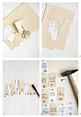 Instructions for making gift-voucher Advent calendar from paper tags