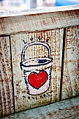 Painted Love Bucket