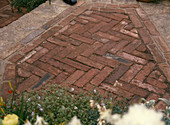 Paving of bricks