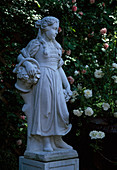 Flower girl made of cement