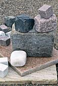 Natural stone quartzite, granite slab, cobblestones
