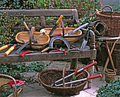 Various cutting tools for the garden
