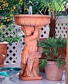 Fountains of Impruneta terracotta