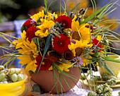 Helianthus (sunflower), Dahlia, Asters