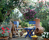 Terrace with Greek flair