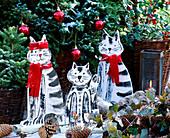 Weatherproof wooden cats