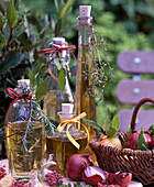 Herbal oils, rosmarinus, laurus, thymus