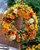 Wreath off, Calendula (marigold)