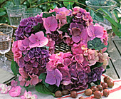 Hydrangea Wreath pink-purple