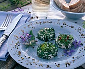 Goat's cheese rolled in fresh herbs
