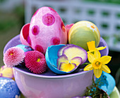 Easter eggs, colored egg shells