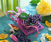 Lavandula (lavender), flowers in little organza bags