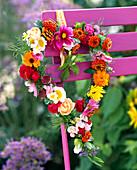 Calendula (marigold), Cosmos (garden cosmos)
