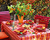 Red orange table decoration