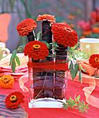 Flowers in Cannablatt
