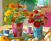 Zinnia bouquet