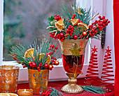Ilex (Red Winterberry), Pinus (Silk Pine), Citrus