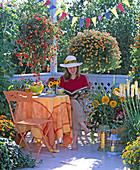 Begonia Illumination 'Orange', Calibrachoa celebration