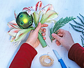 Amaryllis with green balls