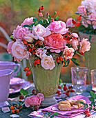 Rose, rosehip arrangement