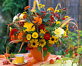 Yellow-red autumn bouquet