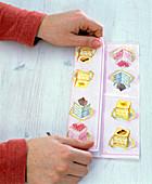 Folding napkin as a pinwheel