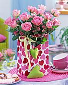 Rose bouquet in heart pocket