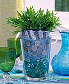 Vase with glass lenses