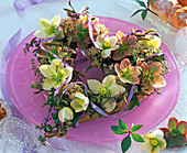 Heart with lilac roses