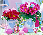 Decorate planters with template