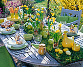 Rolling lawn as a table runner