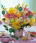 Easter bouquet with Narcissus, Tulipa