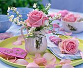 Rosa (Rose), Convallaria (Lily of the Valley), Asparagus (Ornamental asparagus)