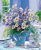 Maritime Bouquet of Leucanthemum, Delphinium