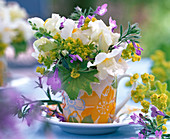 Bouquet of Antirrhinum, Alchemilla, Lobelia