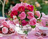 Bouquet of Rose, heuchera, clematis