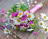 Bouquet with daisies and phlox