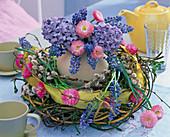 Ostrich egg in a wreath