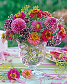 Bouquet with Zinnia, Dahlia, Origanum