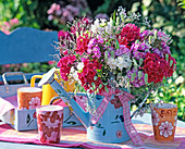 Late summer bouquet with phlox, limonium