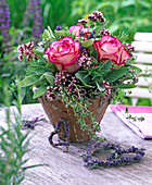 Herb bouquet with Rose, Origanum, Salvia