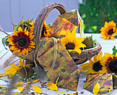 Sunflower seeds in homemade bags
