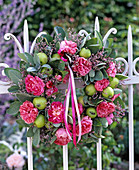 Rose apple sage wreath